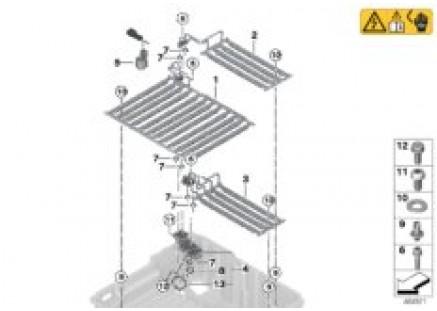 Cooler for high-voltage battery
