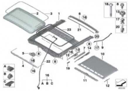 Lift-up-and-slide-back sunroof