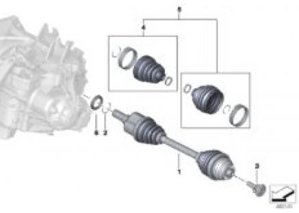 Output shaft front left