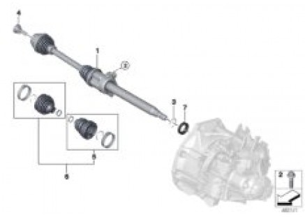 Output shaft front right