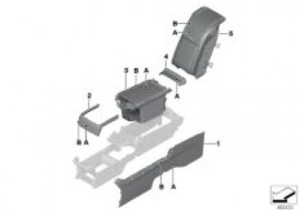 Individual rear console