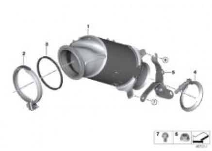 Engine-side catalytic converter