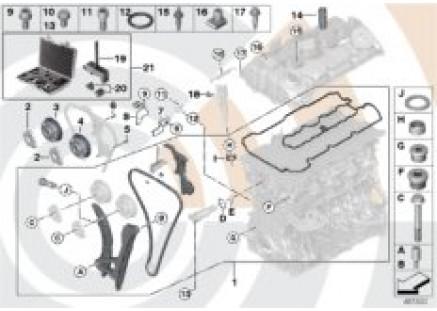 Repair kit, exposed timing chain, top