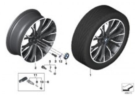 BMW LM wheel M double spoke 669M- 20