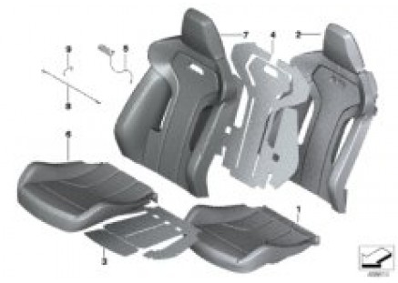 Seat, front, uphlstry, cover, Sport seat