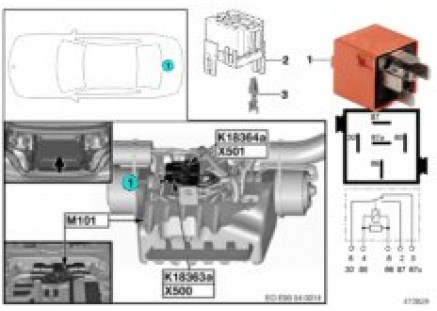 Relay for hardtop drive 1 K18363a