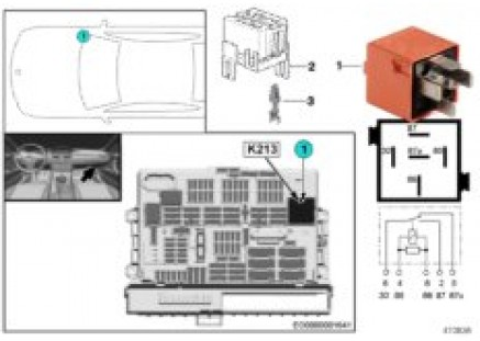 Relay for electric vacuum pump K213