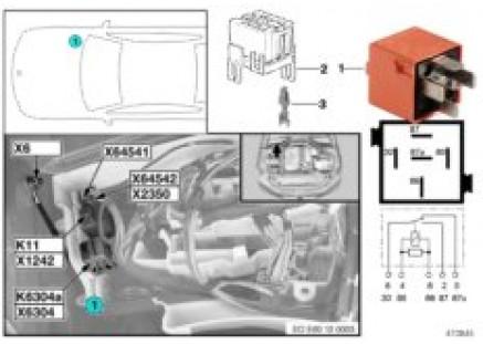 Relay, secondary air pump, K6304a