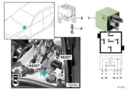 Relay for injectors K6327