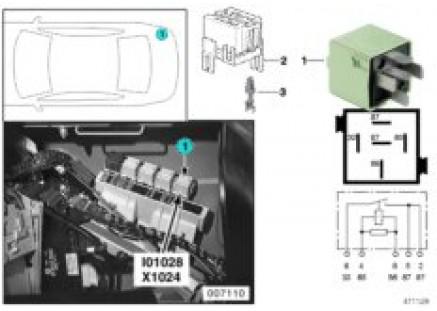 Relay, latent-heat storage system I01028