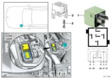 Relay for engine DDE K2085