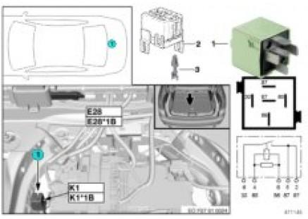 Relay, compressor for air suspension K1