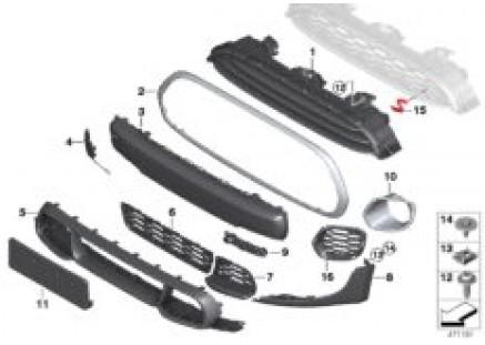 Aerokit, cover, trim elements, front