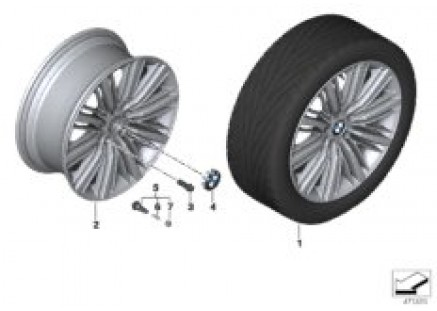 BMW LA wheel Multi-Spoke 616 - 20''