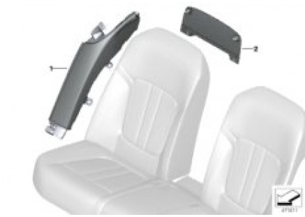 Individual mounted parts backrest rear