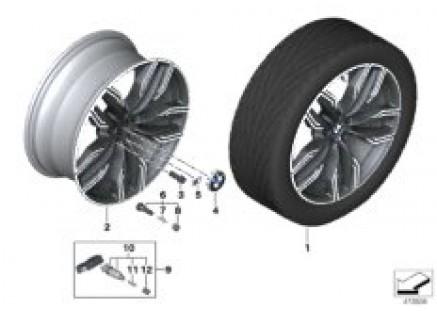 BMW LA wheel double spoke 760M - 20