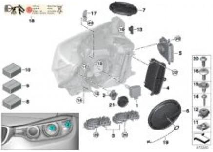 Single parts, xenon headlight