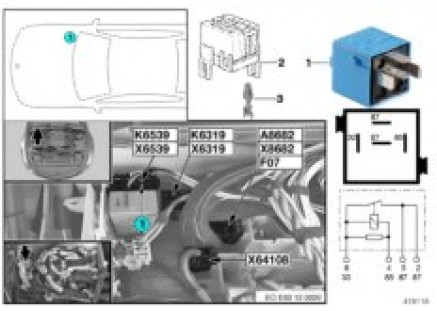 Relay for PCV heater K6539