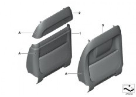 Indiv.rear panel, seat, leather