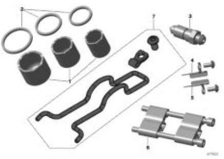 Front brake-gasket set/repair kit