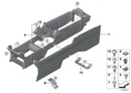 Center console, rear