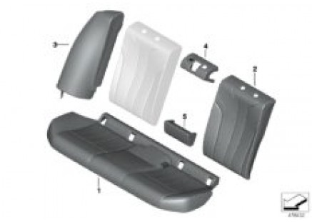 Rear seat upholstery and cover Lines