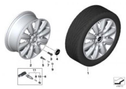 MINI LA wheel Pin Spoke 533 - 18