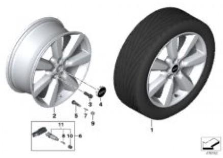 MINI LA wheel Edged Spoke 535 - 19