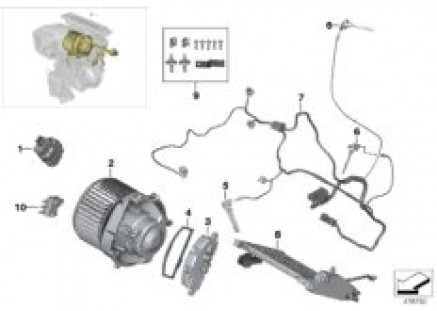 Electric parts for heater and a/c unit