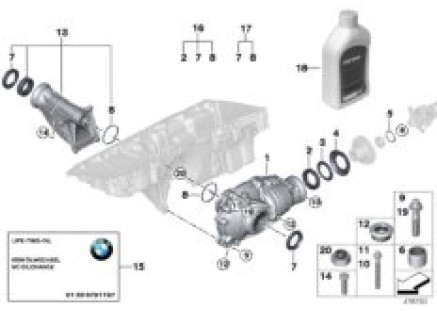 Front diff., components, all-wheel