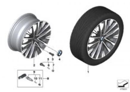 BMW LA wheel multi-spoke 547 - 17