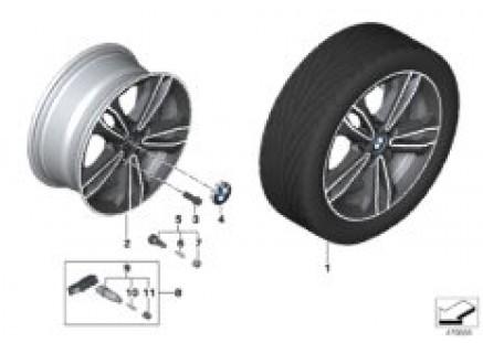 BMW LA wheel double spoke 549 - 17