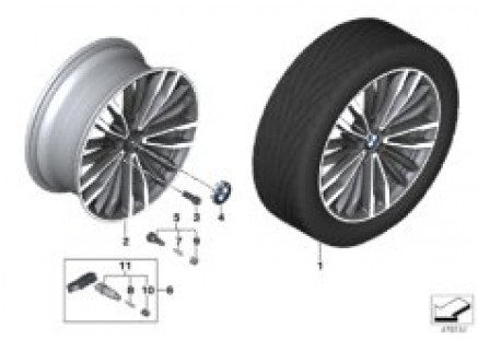 BMW LA wheel multi-spoke 708 - 19