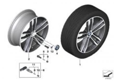 704 BMW LA wheel M double spoke 704-19