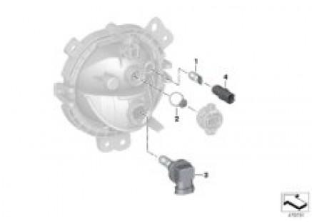 Single parts, headlight, bumper