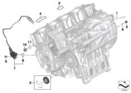 Engine housing mounting parts