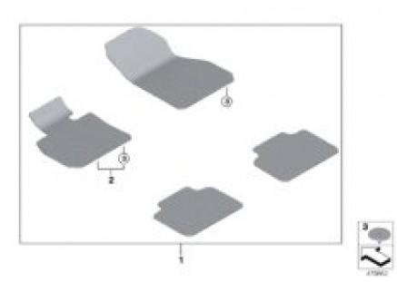 Floor mat, velours