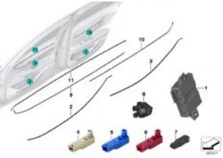 LED module/fiber-optic conductor/ECU