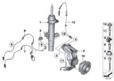 Strut front VDC / mounting parts