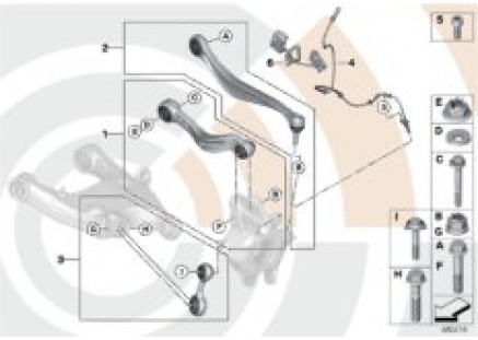 Repair kits for suspension arms/struts