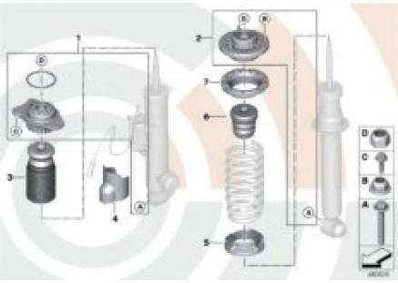 Repair kit for support bearing
