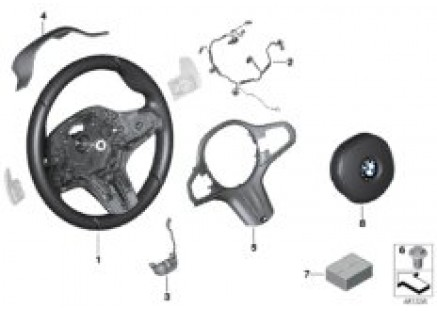 M Sp. st. wh. airbag multif./paddles