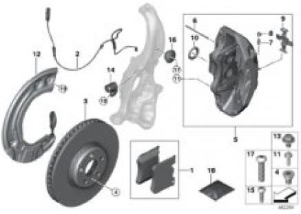 Front wheel brake