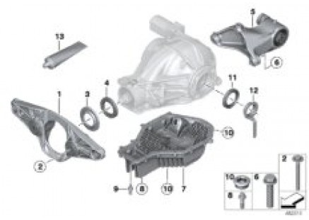 Rear axle diff.sep.components M-vehicle