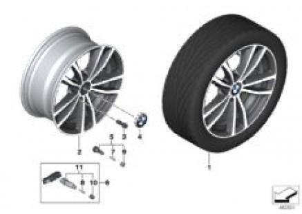 BMW LA wheel double spoke 725 - 17