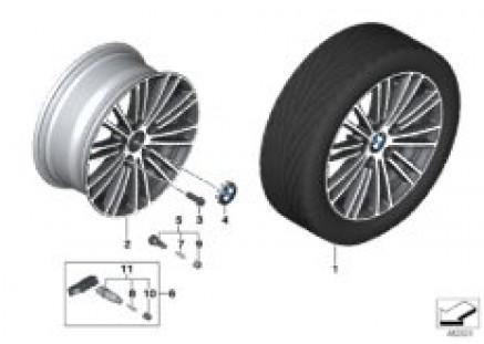BMW LA wheel multi-spoke 724 - 17