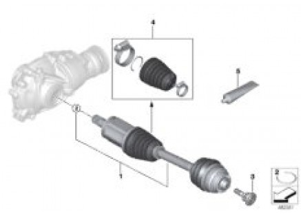 Output shaft front left / all-wheel