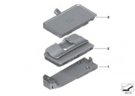 Elec.components telephone center console