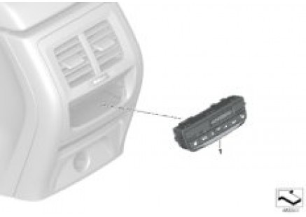 Heating/air conditioner actuation rear