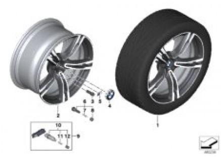 BMW LA wheel M double spoke 705M- 19